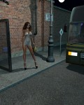Princess At The Busstop - 1