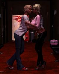 Kyndra and Wilona Embrace