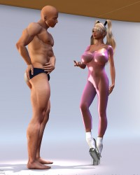 The Pink Rubber Catsuit