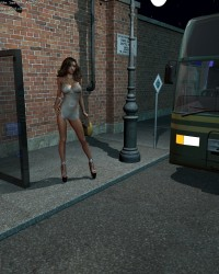 Princess At The Busstop - 1