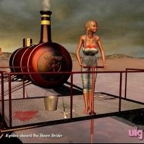 Kyndra Aboard The Steam Strider