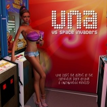 Una vs. Space Invaders