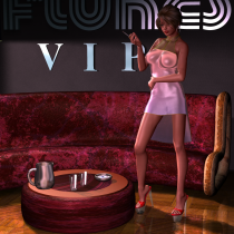 Emie at the Flukes VIP Lounge