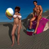 Nina at Carnopolis Beach - Lifeguard Tease I
